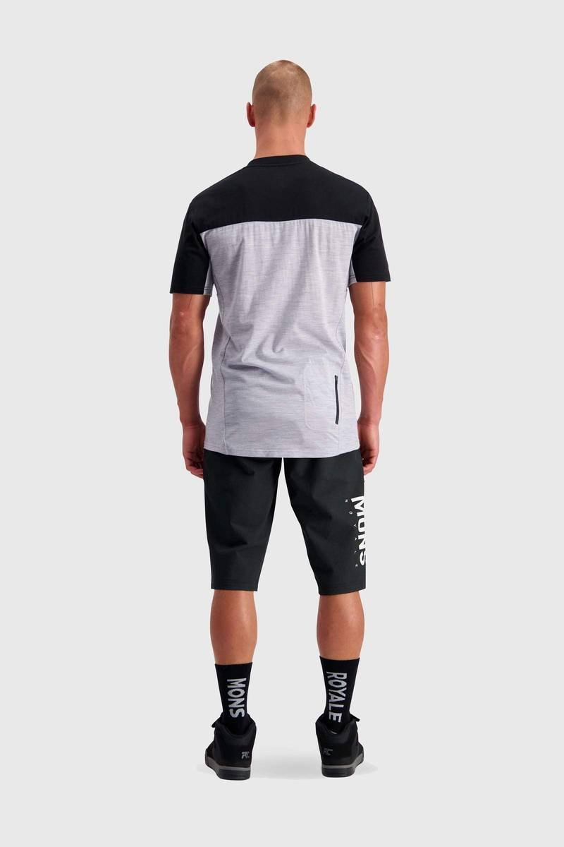 Mons Royale Redwood Enduro VT Black/Grey Marl